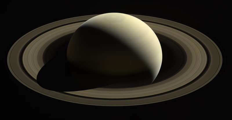 Saturn, so far from home.