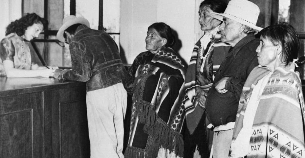 After years of legal challenges, Native Americans in New Mexico register to vote, 1948
